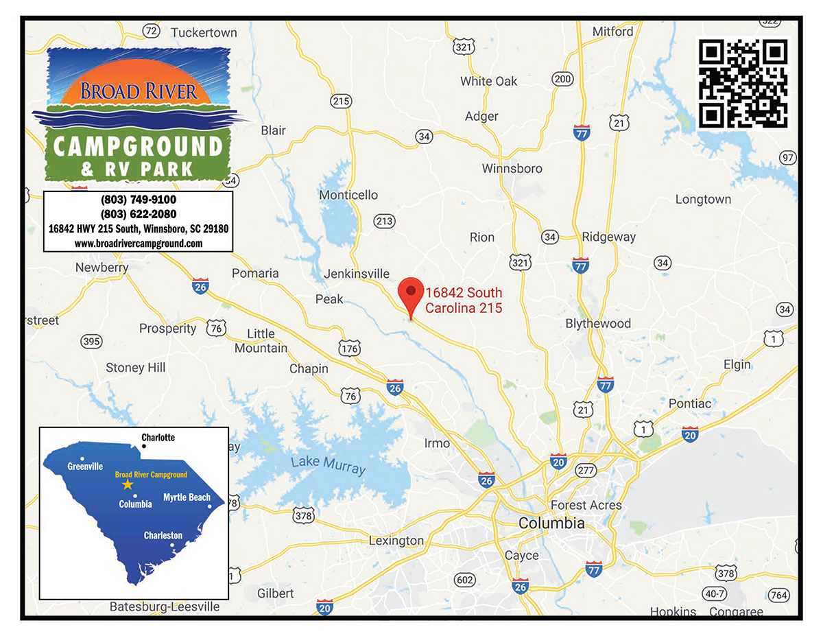 Broad River Campground Proximity Map